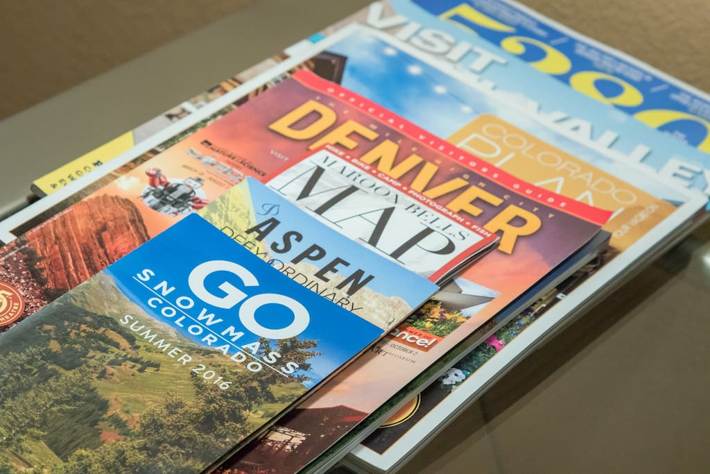 We have tons of brochures and recommendations on how to enjoy Colorado