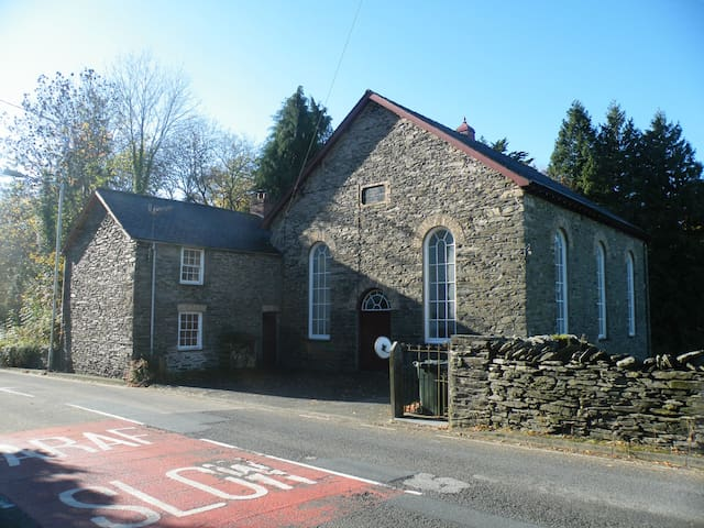 Small Twin Room in traditional Welsh Chapel House - Ceredigion - House