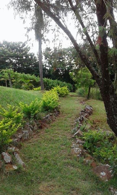 acesso à horta