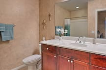 This property offers plenty of privacy in 2 full bathrooms.