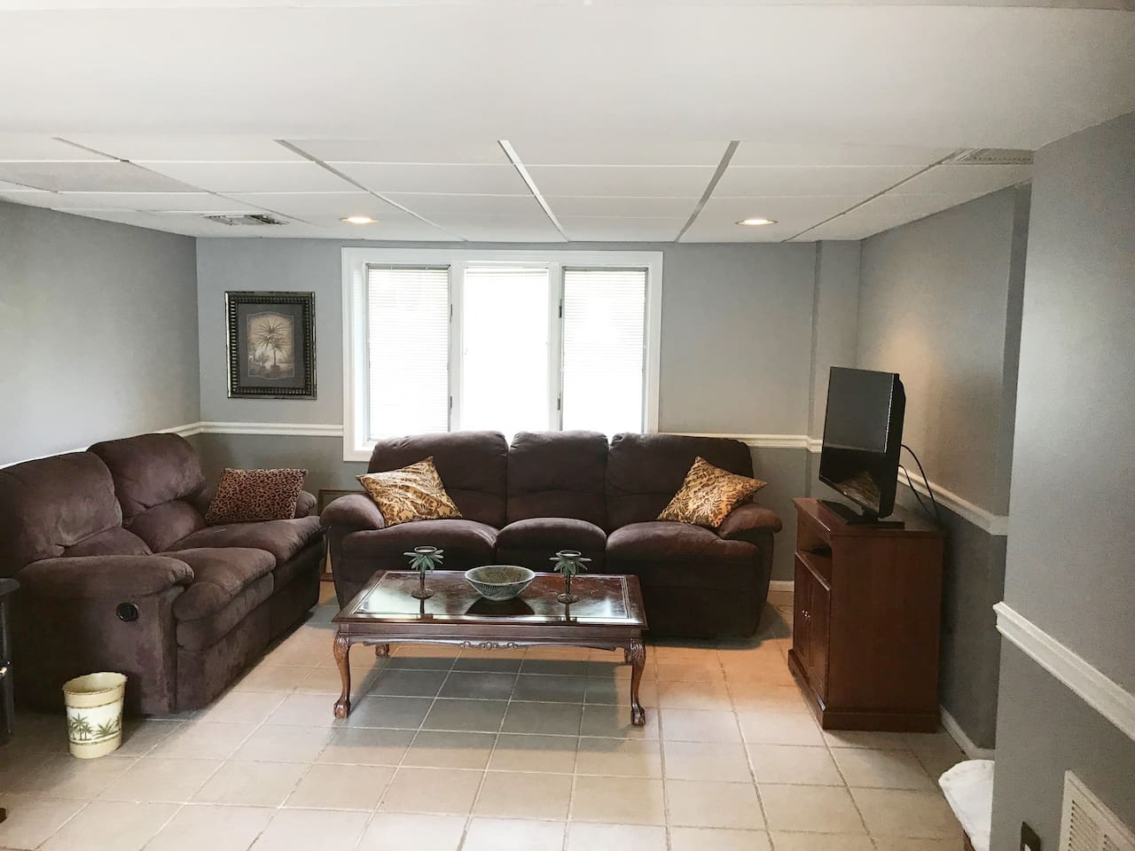 Living area with TV.