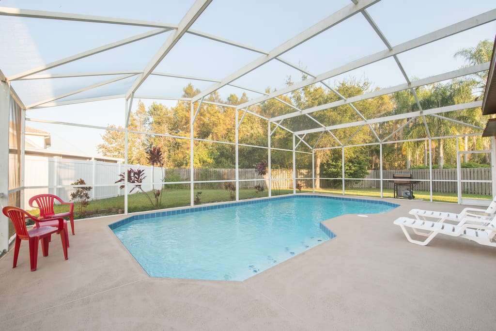 Large multi-depth pool for outdoor fun!