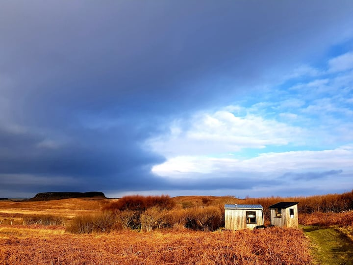 Off-grid, wild, eco-camping hut. Isle of Mull.