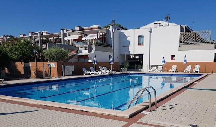 Appartamento al Cavallino con piscina in comune