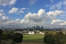Greenwich Park (10-15mins on Bus, Train or Car)