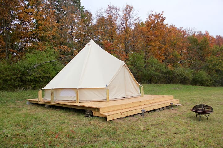 Upstate glamping at Gatherwild Ranch - Germantown - Yurt