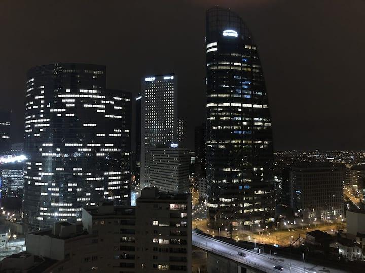 2 pièces à Paris, La Défense - Belle vue & Parking