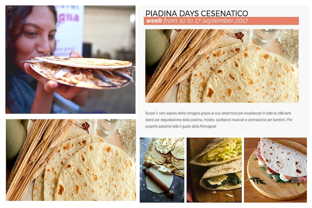 Piadina Days: from 10 to 17 september