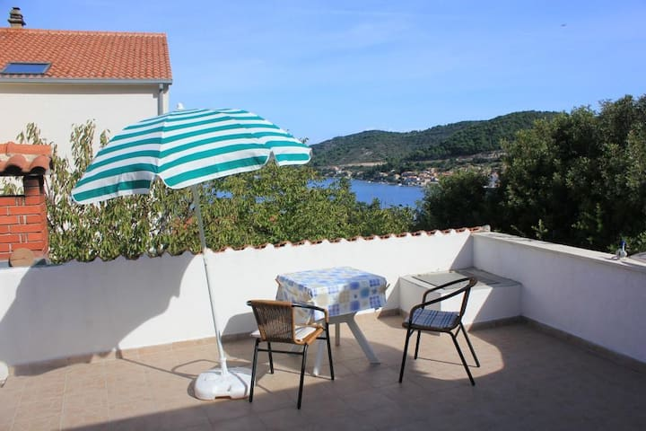 Studio flat with terrace and sea view Vis (AS-2470-a)