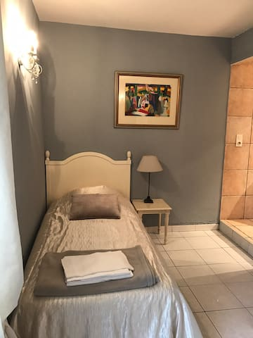 chambre 2 lits 80 et douche