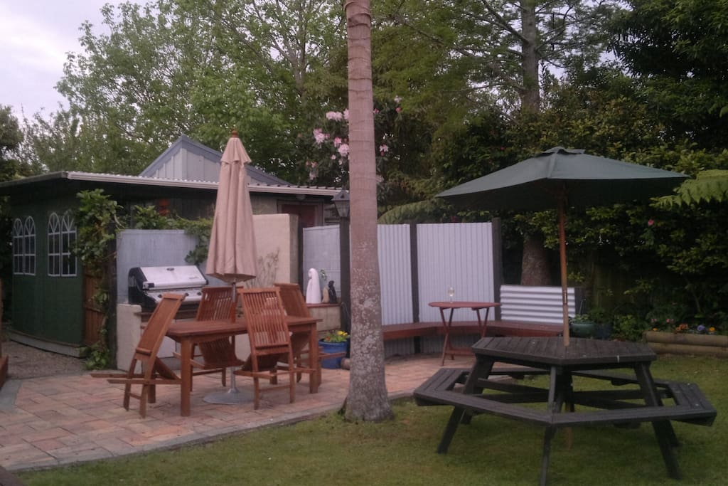 BBQ area for guests use