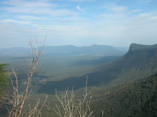 View from The Pinnacle in the Border Ranges