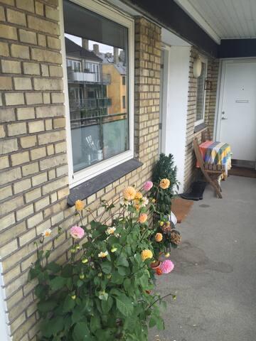 Svalegang / outside Hall entrance