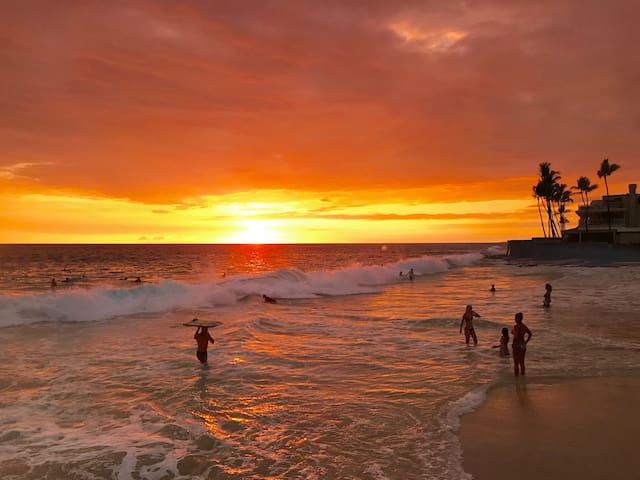 ★Tropical ★ Walk to Magic Sands Beach ★ Queen ★A/C