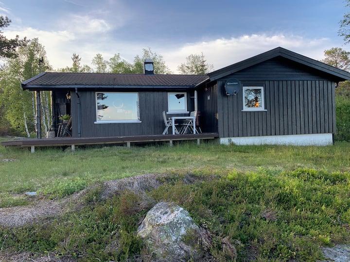 Koselig hytte på Gautestad