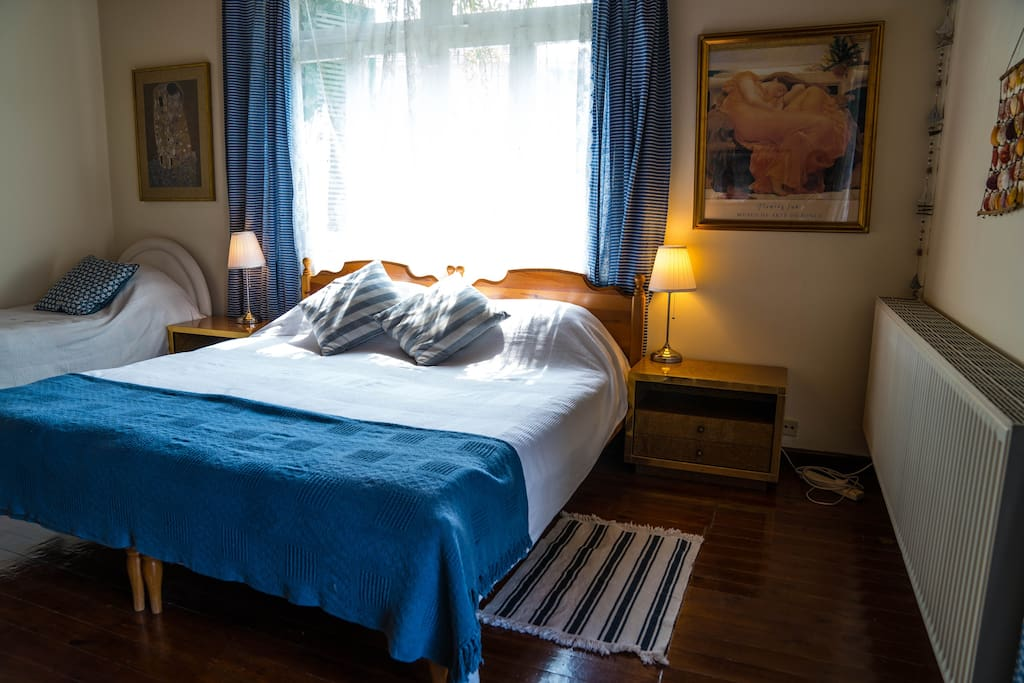 Huge bedroom with Double Bed. Note that the double bed can be converted to two singles on request