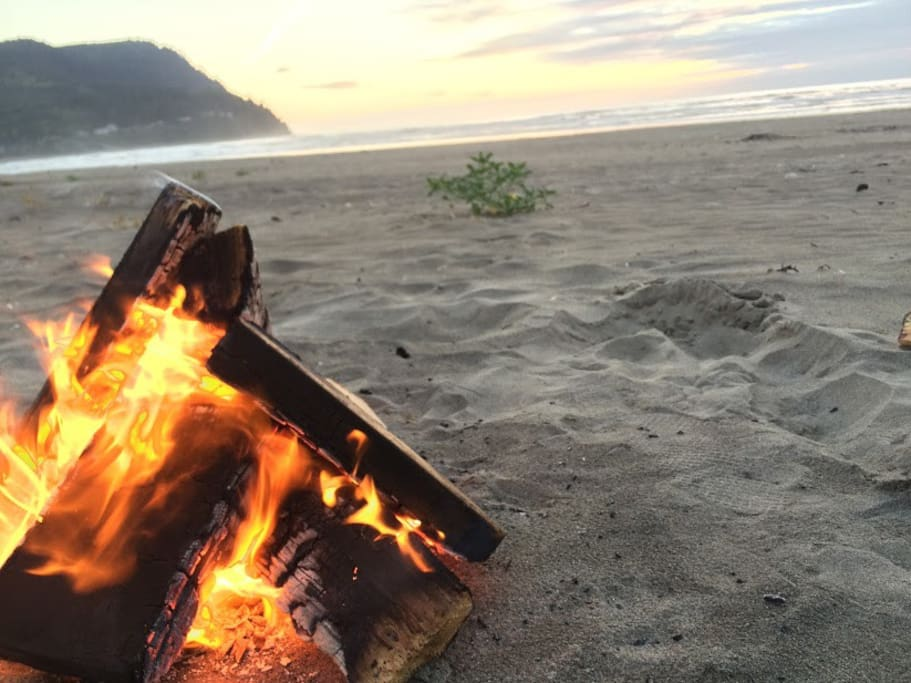 A three block walk to the beach offers the privilege of beach bonfires with ease!