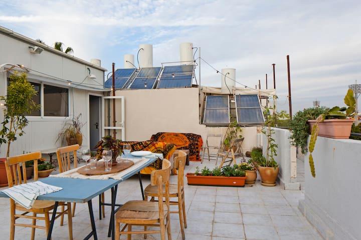 Boho Private Roof in Historic Jaffa
