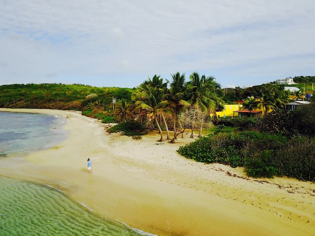 Ocean Front, beach private access, cars, biobay! - Vieques - House