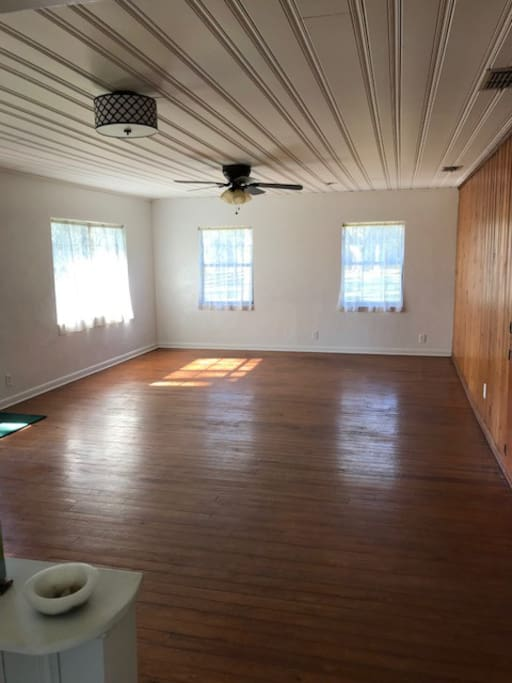 We rent furniture to suit.  Always NEW condition.  Usually Living & Dining with large t.v. in this room.