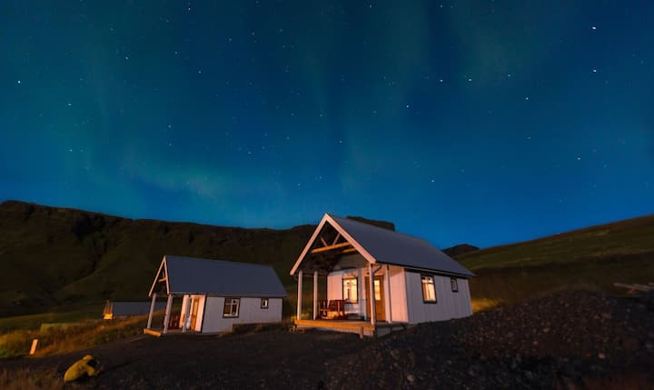 Cottage with private facility in town of Vík
