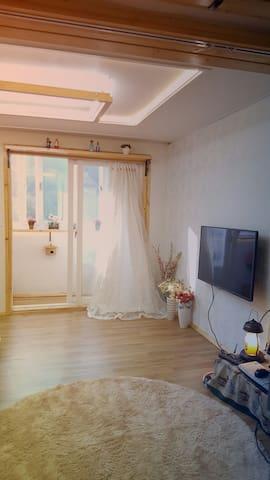 맑은공기 10평 독채 (콘도형) 한옥마을 도보5분 - 전주시 완산구 교동 - Apartament