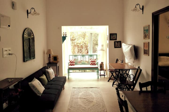 Tastefully styled 1BHK in the upmarket Siolim area