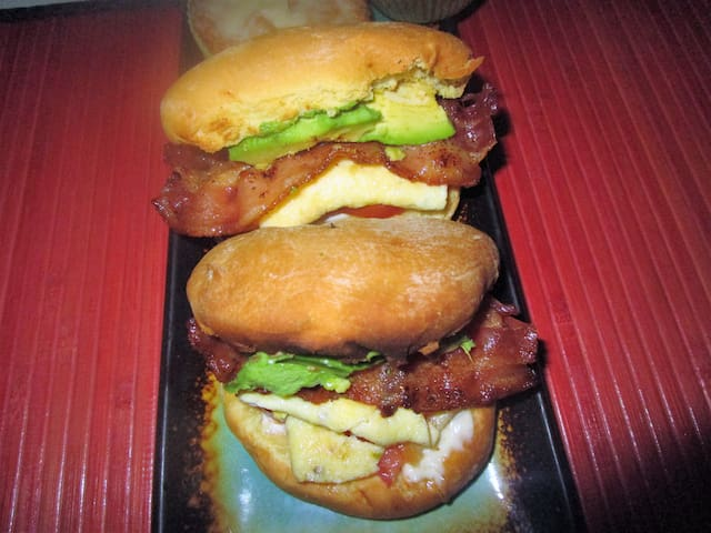 """Delicious """"just made"""" breakfast sandwiches, just part of the breakfast included in your room rate"""