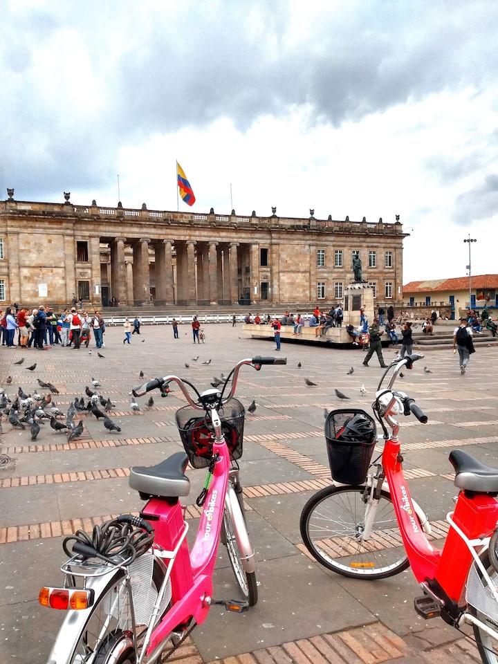 Bolivar Square at historic district