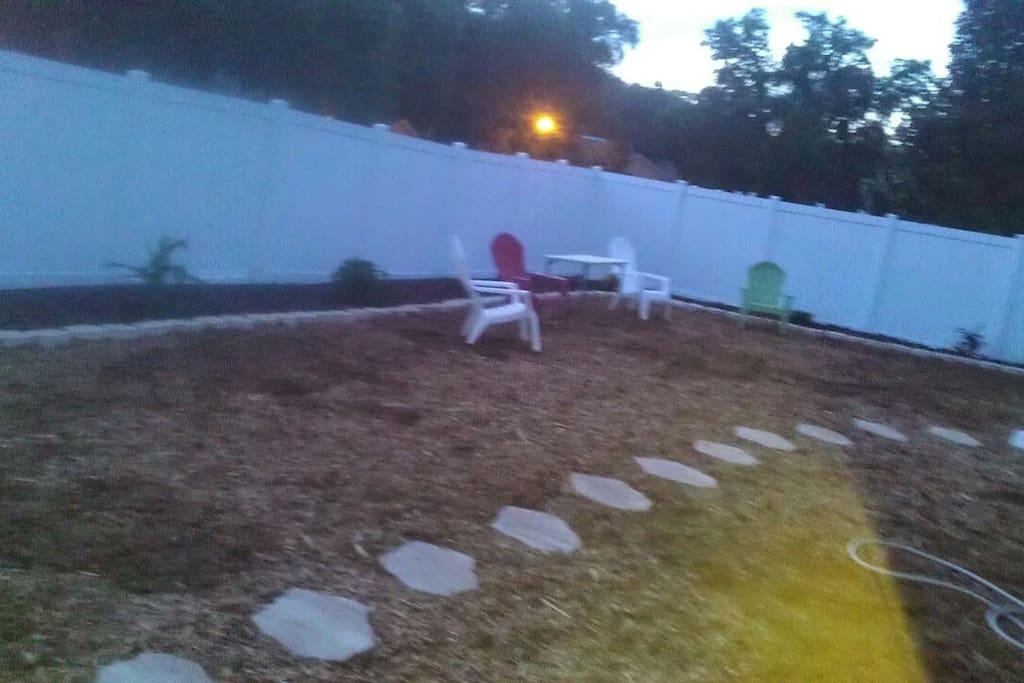 Spacious backyard