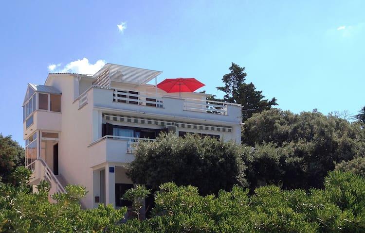 Villa Herceg 14 guests -First row to the beach - Mandre - Villa