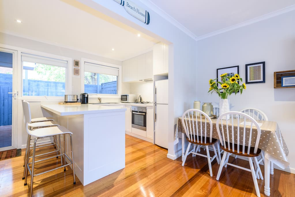 Brand new kitchen with everything you need... dishwasher and coffee machine!