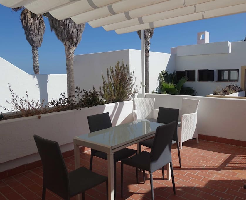 terrace on apartment level