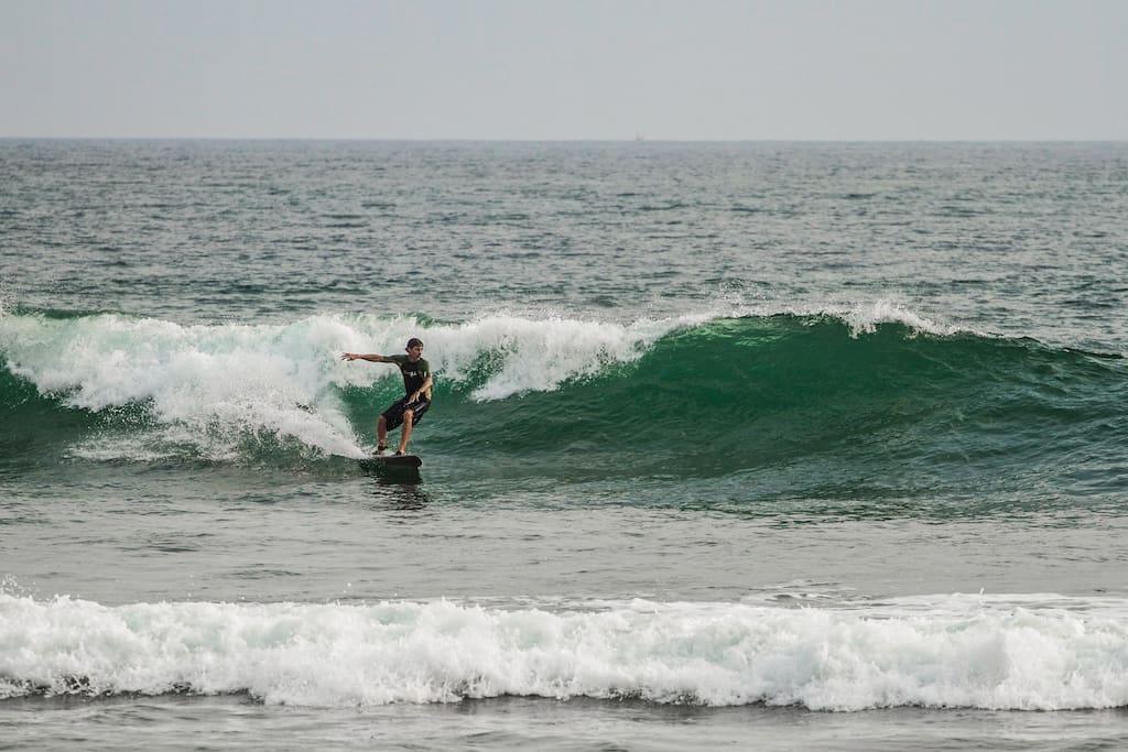 Surfing in Madiha