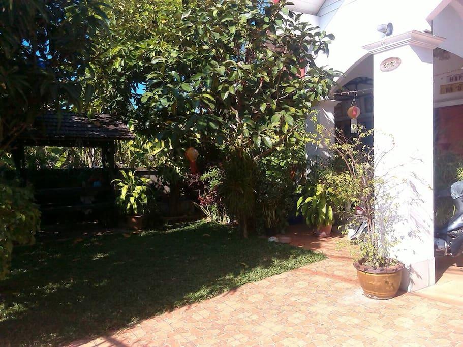 Relax zone in the garden.