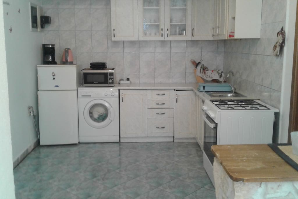 this is kitchen with everything to use