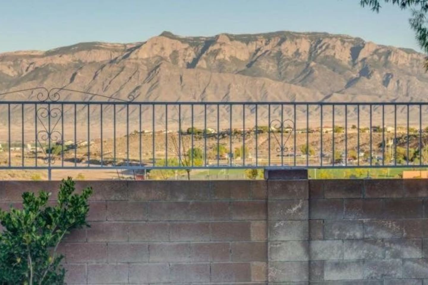 Unobstructed view of the Sandia Mountains
