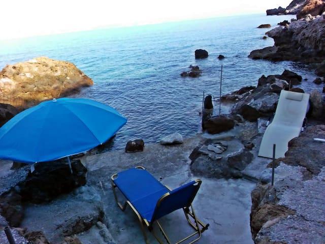 private spot  to swim