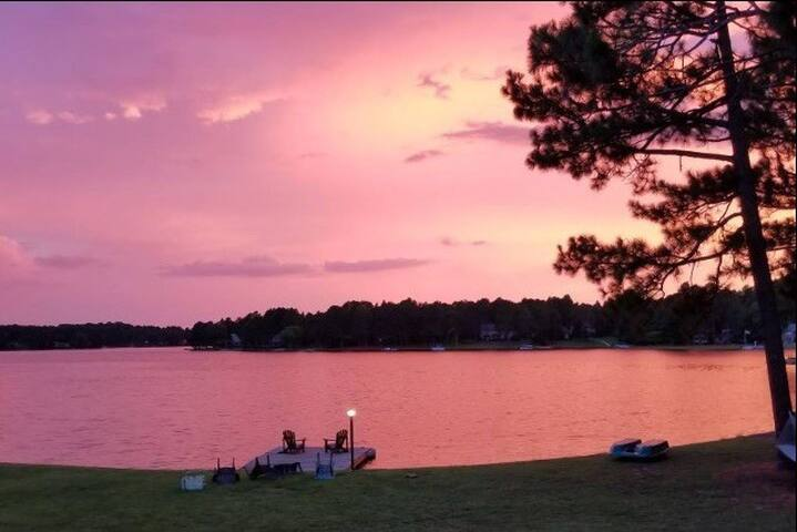 Beautiful sunset on the lake, captured by one of our guests. No filter!!