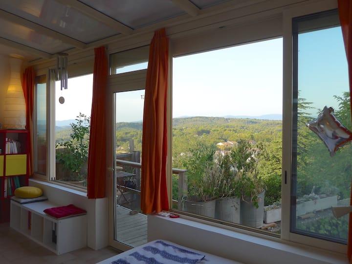 Maison de village en Provence vue Mont Ventoux