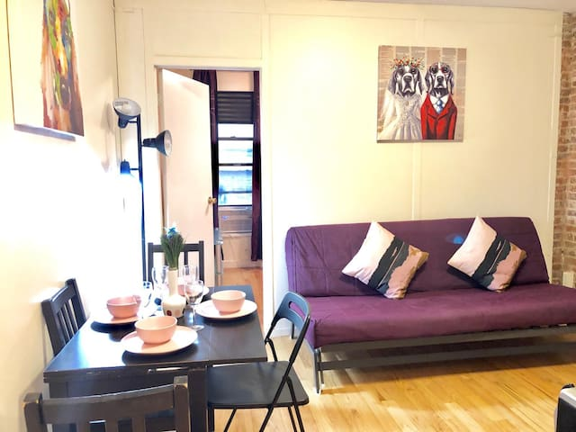 Central Park/ Times Square -Bright and Quiet 2 BDR