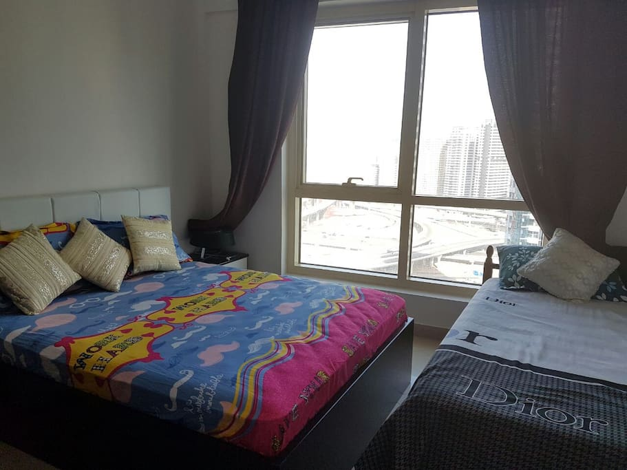Fully Furnished Bedroom for 3 People.
