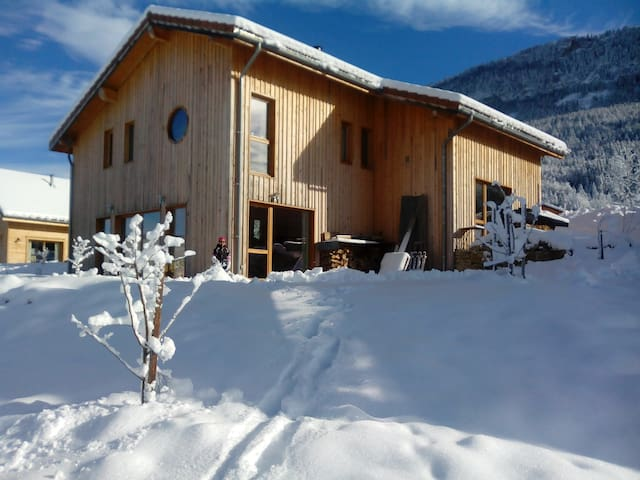 ECOGITE  neuf 5/7 pers. SAUNA traditionnel VERCORS - Saint-Julien-en-Vercors - Earth House