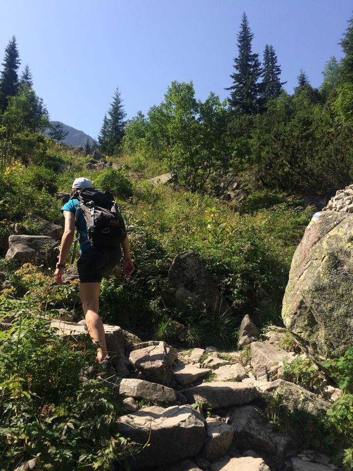 Karolina leading the hike