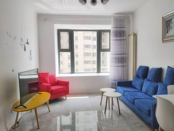 远洋城/恒大学庭/唐山学院北校区/唐山师范学院两室一厅现代简约温馨舒适公寓