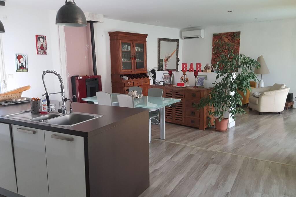 espace à vivre de 70 m2