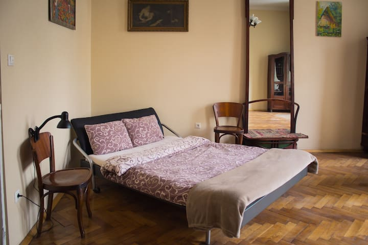 Former artist's, private room, shared bath, wi-fi - Lviv - Appartement