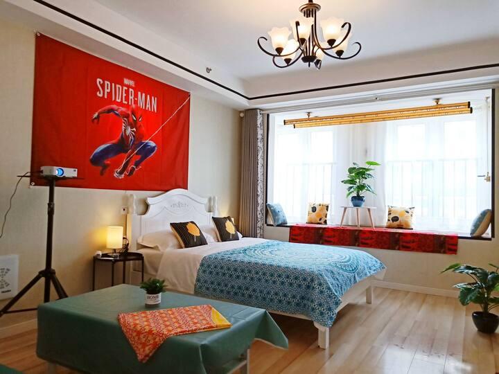 19人民广场地铁站@近云龙湖飘窗公寓,可做饭,智能入住