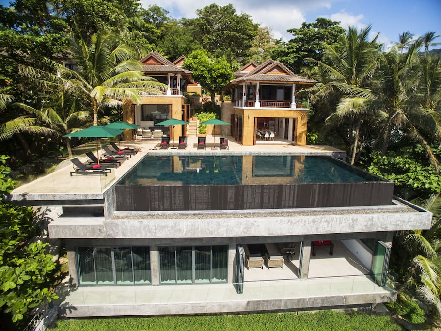 Aerial of Villa Sunyata - Loft under pool