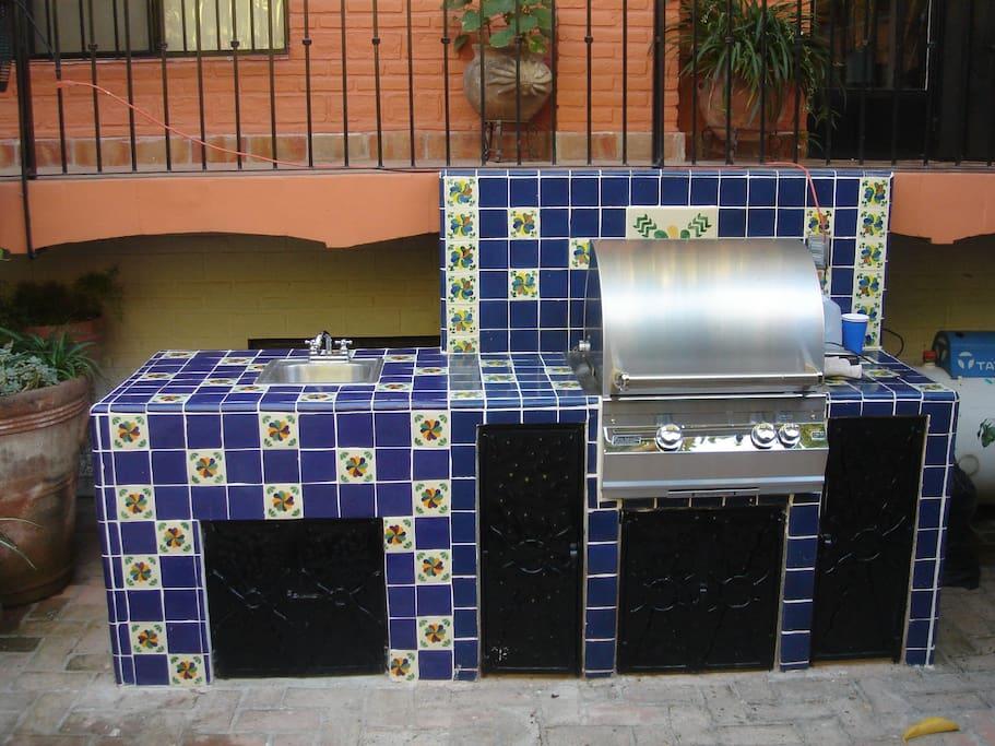 Area de BBQ en la alberca